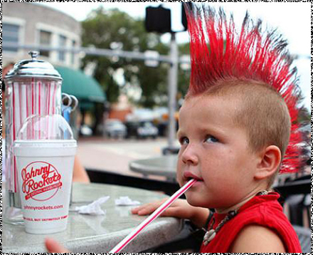 I used to be a punk boy!