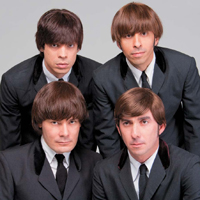 Os músicos: Cesar Kiles (Paul), Renato Almeida (Ringo), Thomas Arques (George) e Sandro Peretto (John).