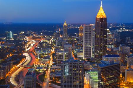 Atlanta é a capital da Geórgia, que fica no sudeste dos EUA.