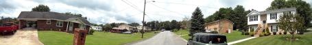Foto panorâmica da minha rua. (Clique para ampliar)