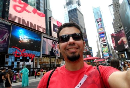 Aquela tradicional foto em Times Square...