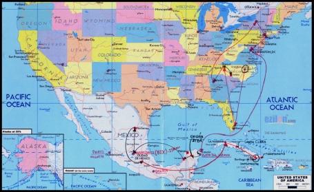 Mapa onde planejei meu itinerário. (clique sobre o mapa para ampliá-lo)
