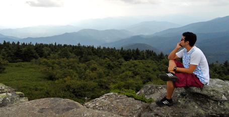 Momento de reflexão no alto dos montes Apalaches. :P