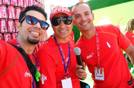 Os craques do microfone já entraram em campo: eu e meus caros Márcio Castellani e Ilam Gurgel.