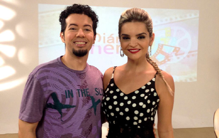 Eu e a apresentadora.
