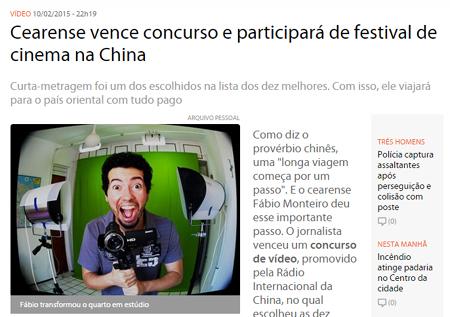 Print screen da notícia.