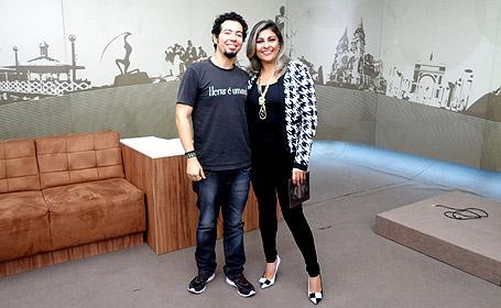 Eu e a apresentadota Carla Soraya.